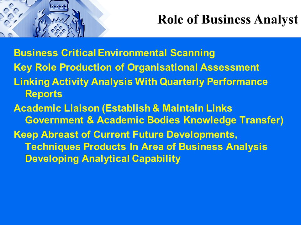 Role of Business Analyst
