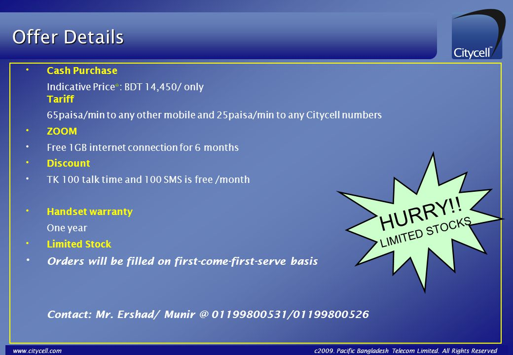 HURRY!! Offer Details LIMITED STOCKS