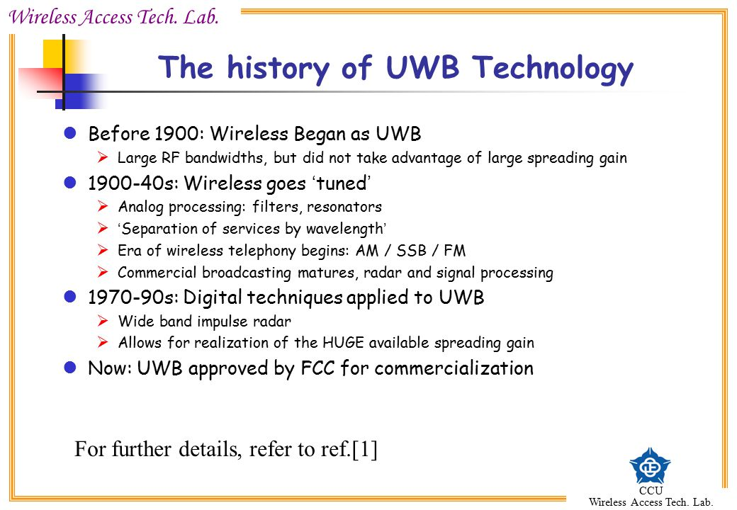 The history of UWB Technology