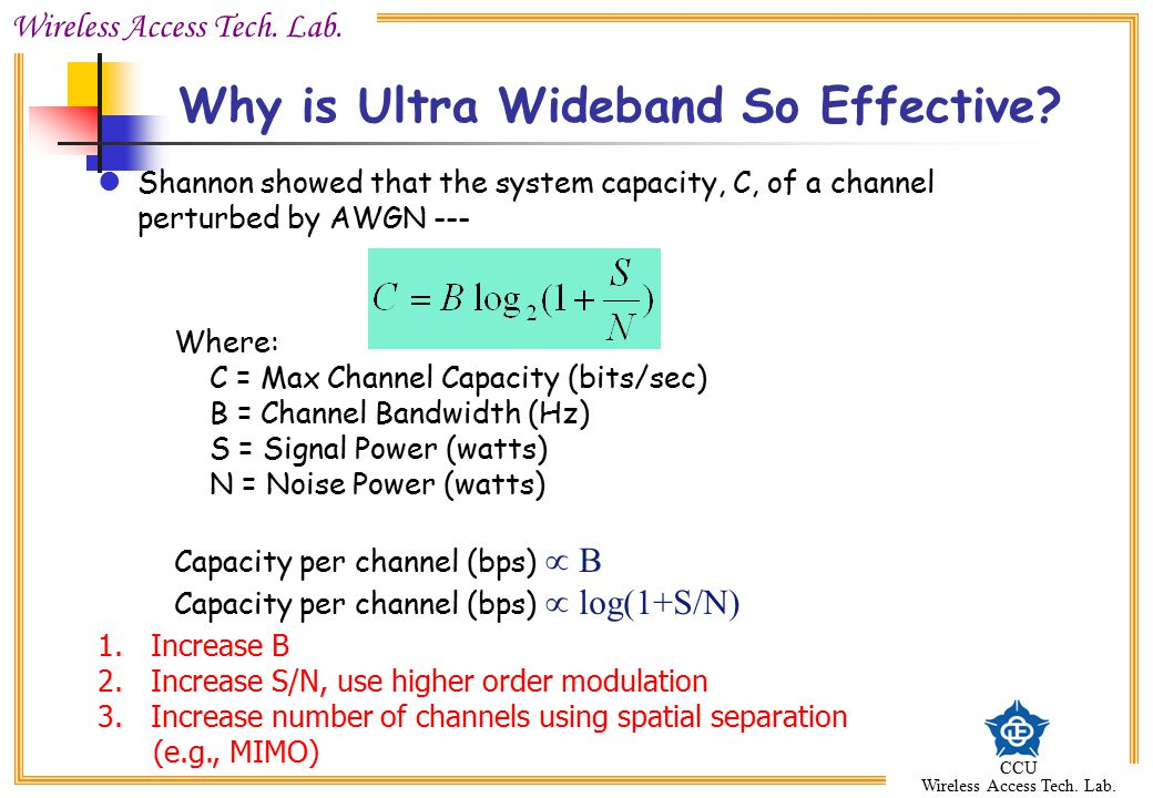 Why is Ultra Wideband So Effective