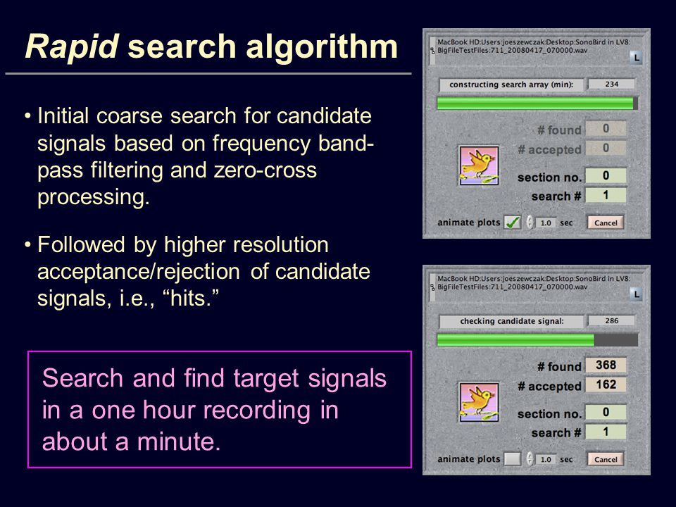 Rapid search algorithm