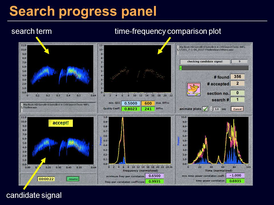 Search progress panel search term time-frequency comparison plot