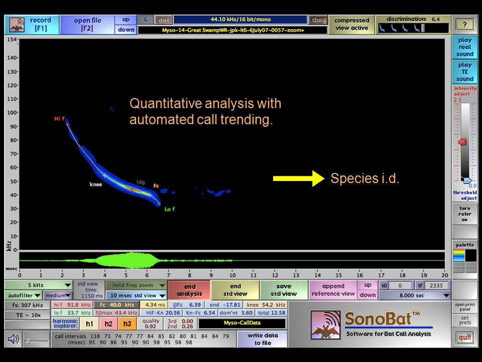 Quantitative analysis with automated call trending.