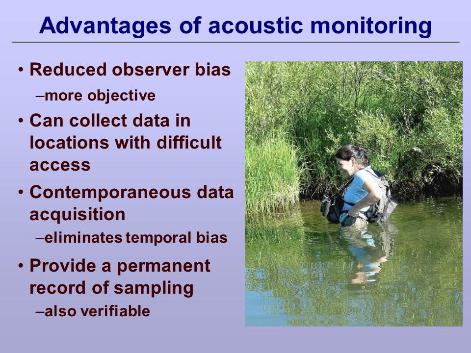 Advantages of acoustic monitoring