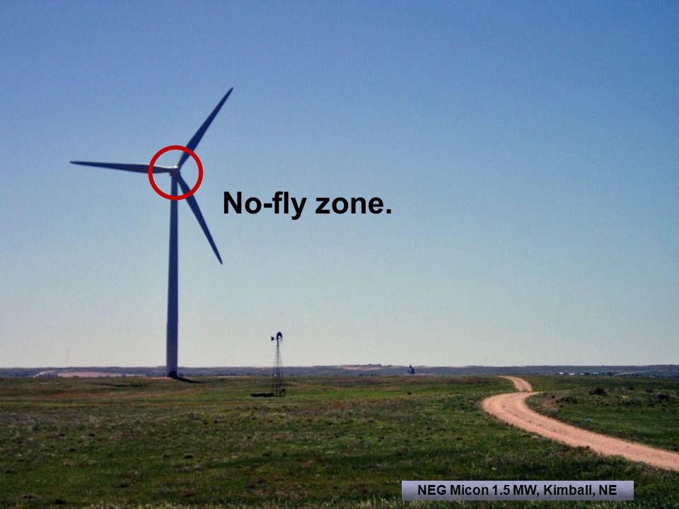 No-fly zone. NEG Micon 1.5 MW, Kimball, NE