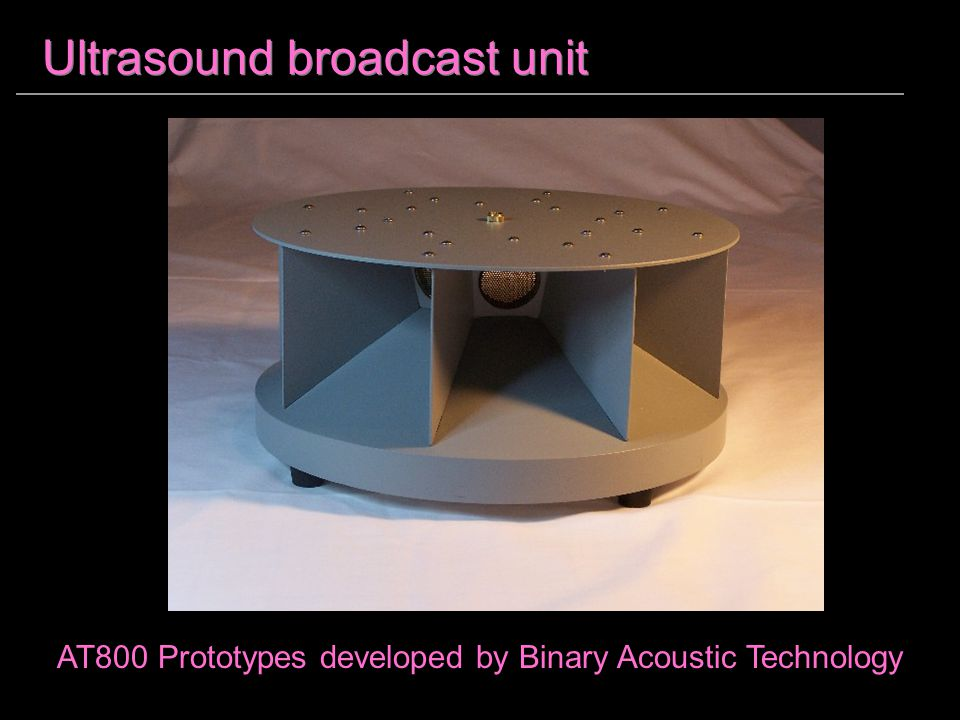 Ultrasound broadcast unit