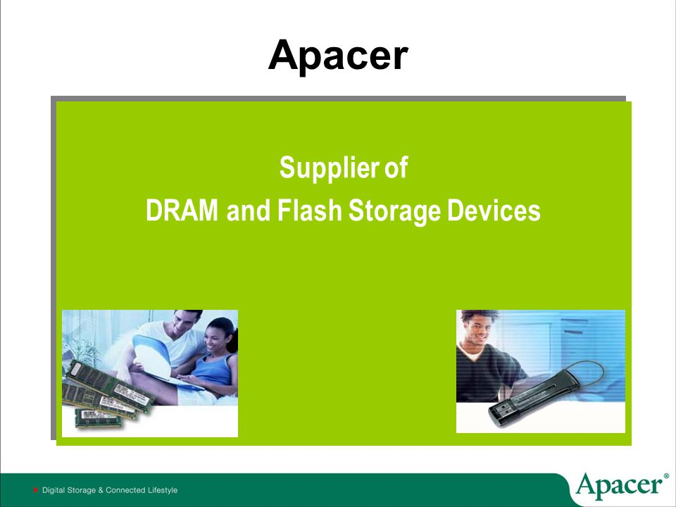 DRAM and Flash Storage Devices