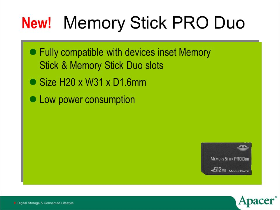 Memory Stick PRO Duo New!