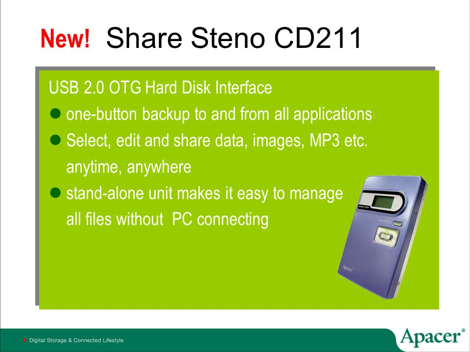 Share Steno CD211 New! USB 2.0 OTG Hard Disk Interface