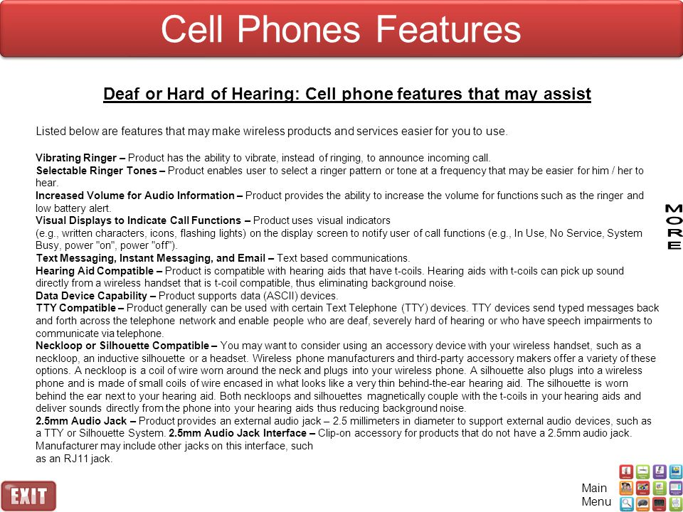 Deaf or Hard of Hearing: Cell phone features that may assist