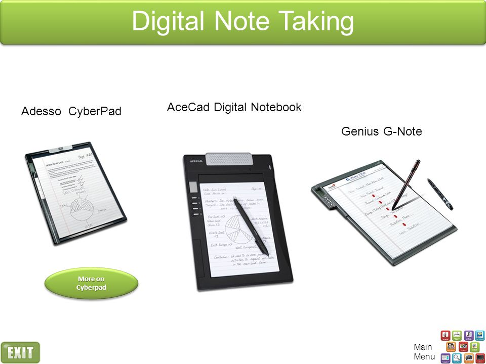 Digital Note Taking AceCad Digital Notebook Adesso CyberPad