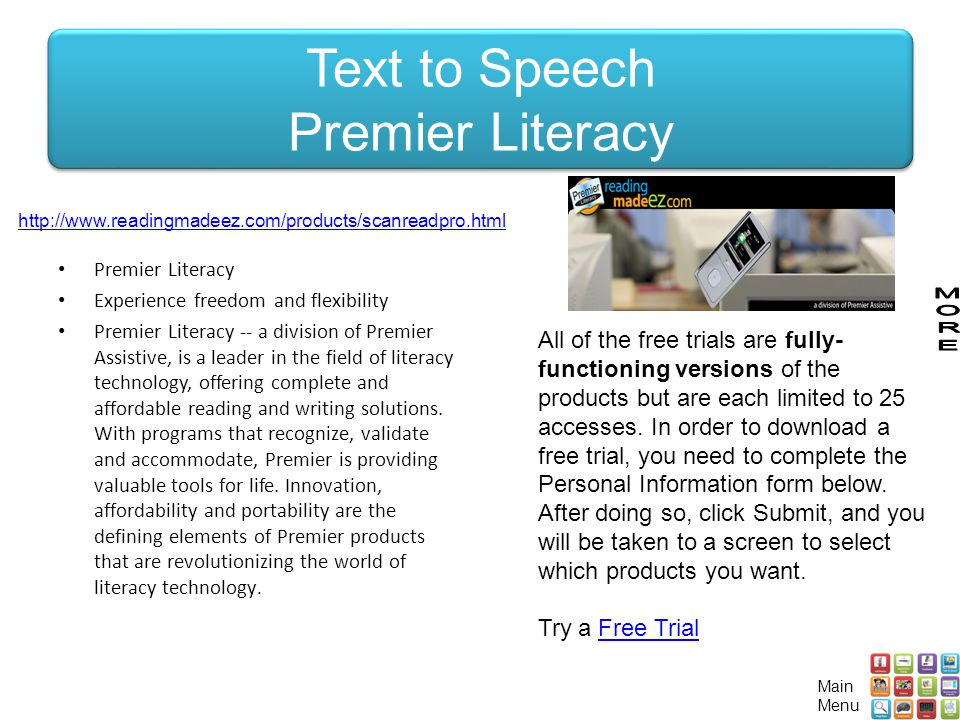 Text to Speech Premier Literacy