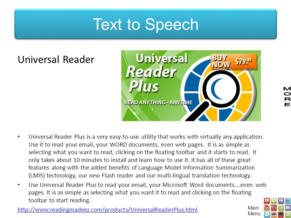 Text to Speech Universal Reader