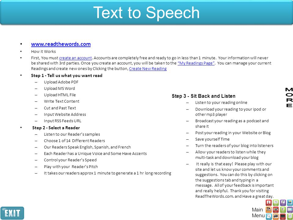 Text to Speech www.readthewords.com