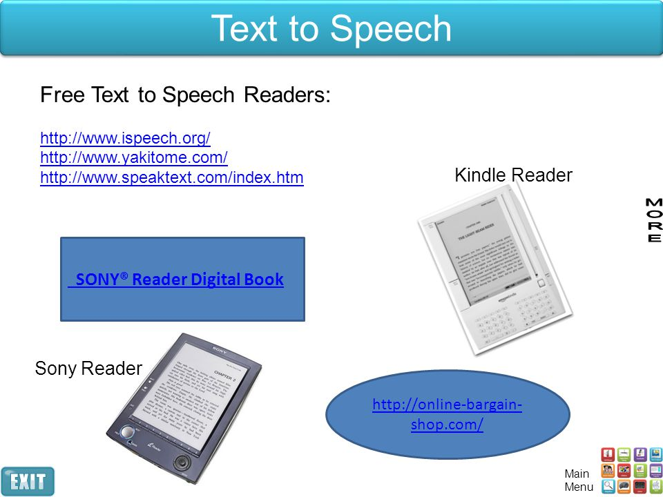 Text to Speech Free Text to Speech Readers: Kindle Reader