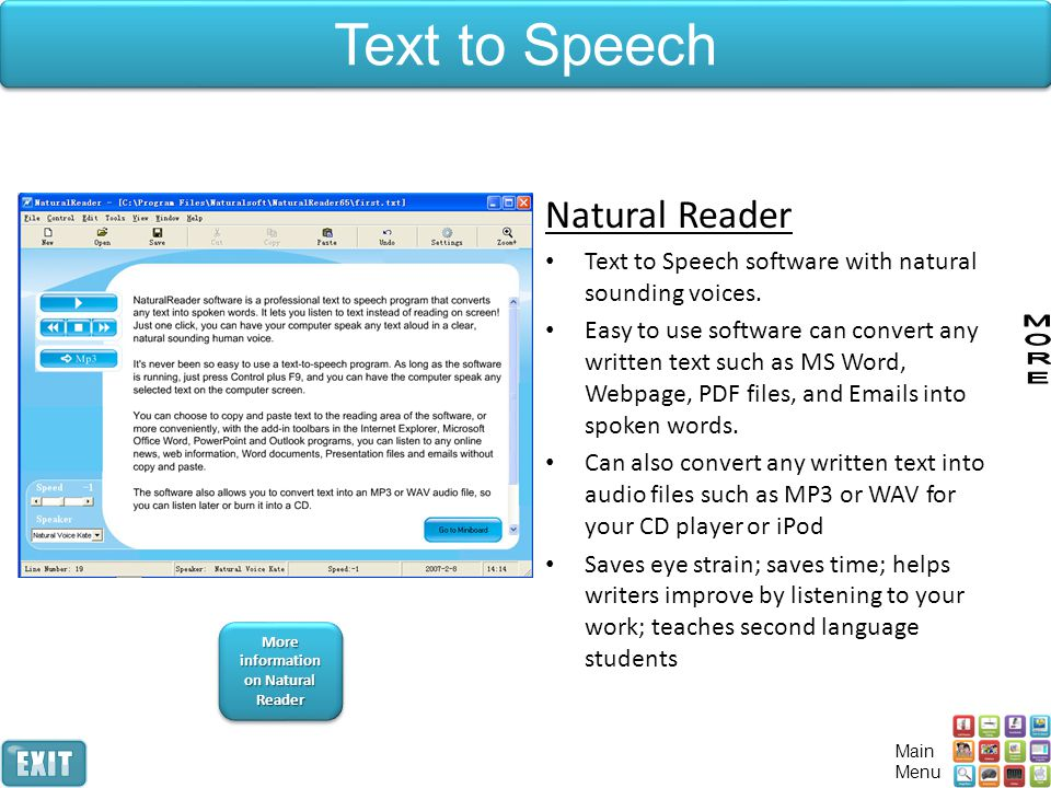 More information on Natural Reader