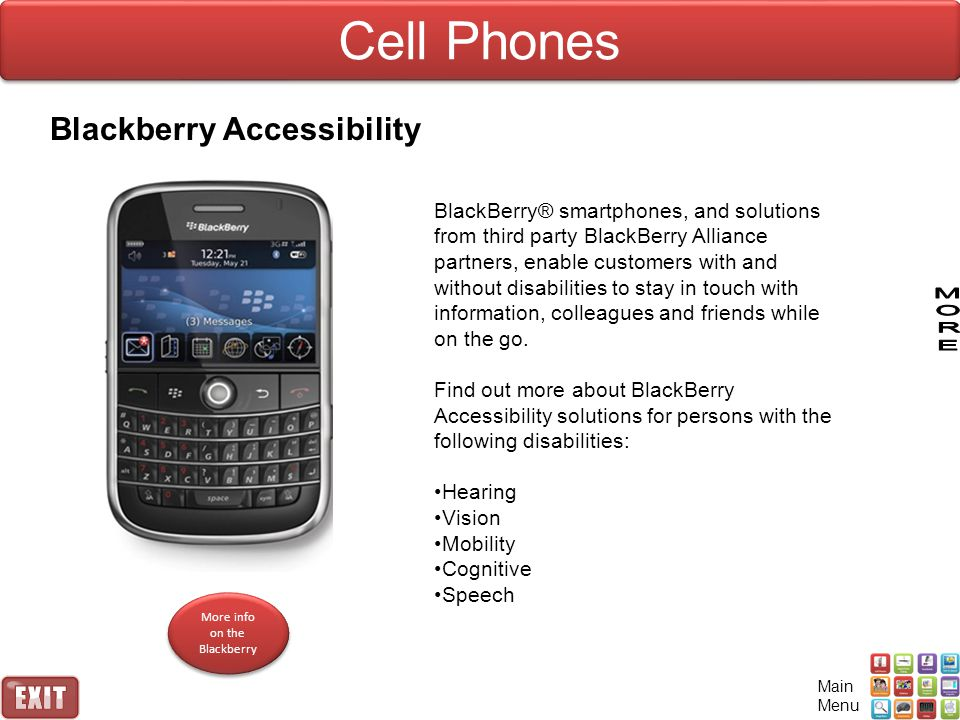 More info on the Blackberry