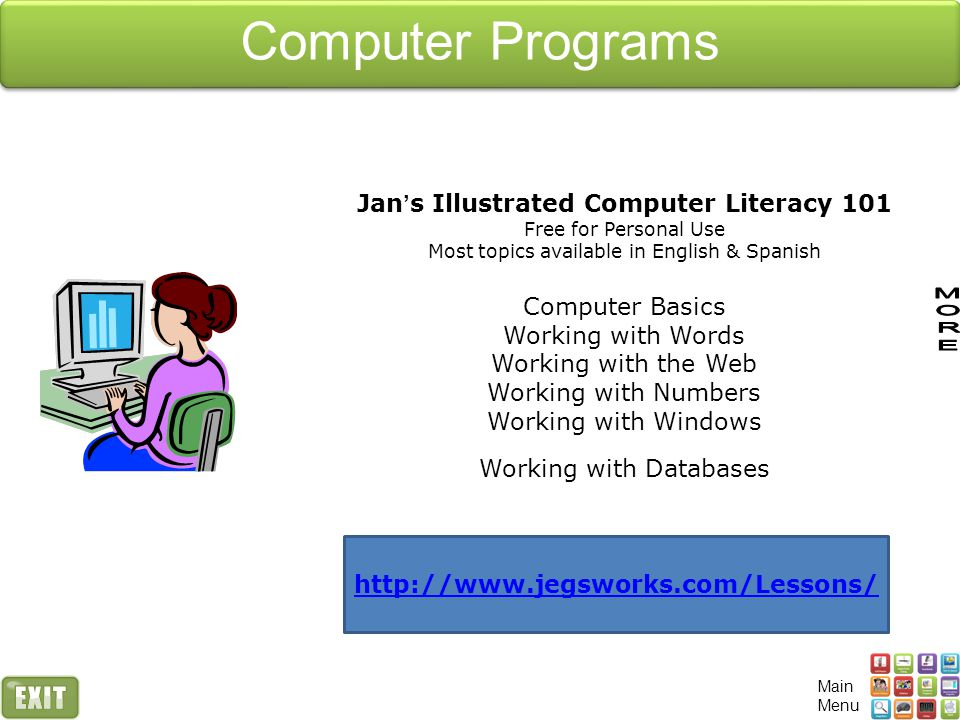 Computer Programs Jan's Illustrated Computer Literacy 101