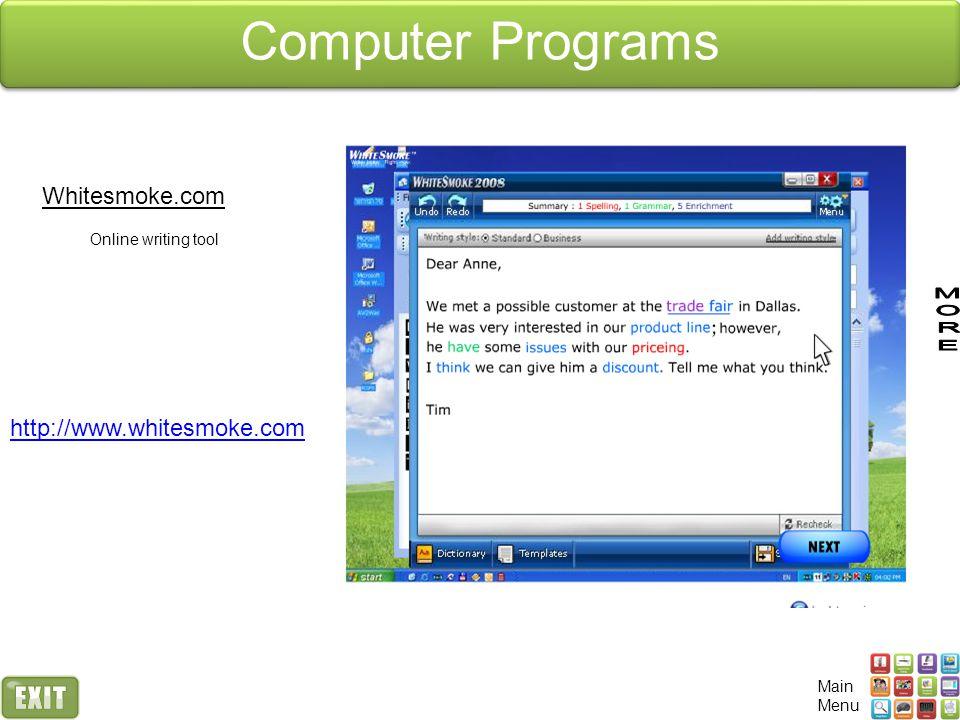 Computer Programs Whitesmoke.com http://www.whitesmoke.com