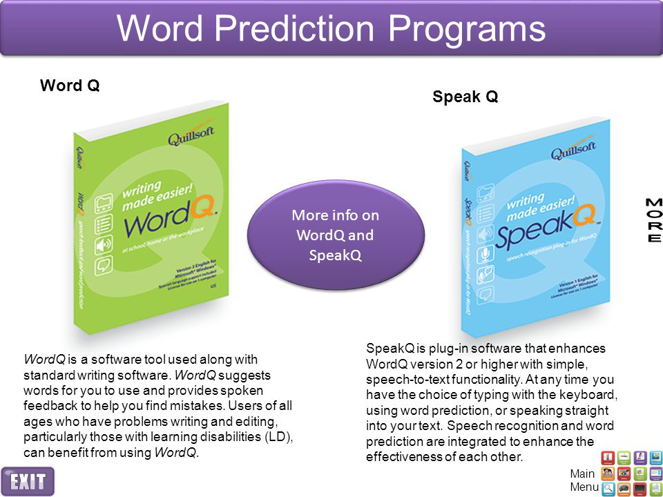 Word Prediction Programs