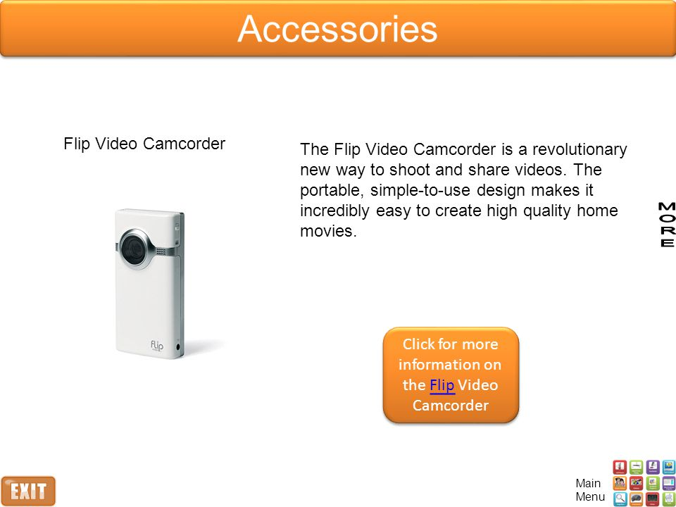Click for more information on the Flip Video Camcorder