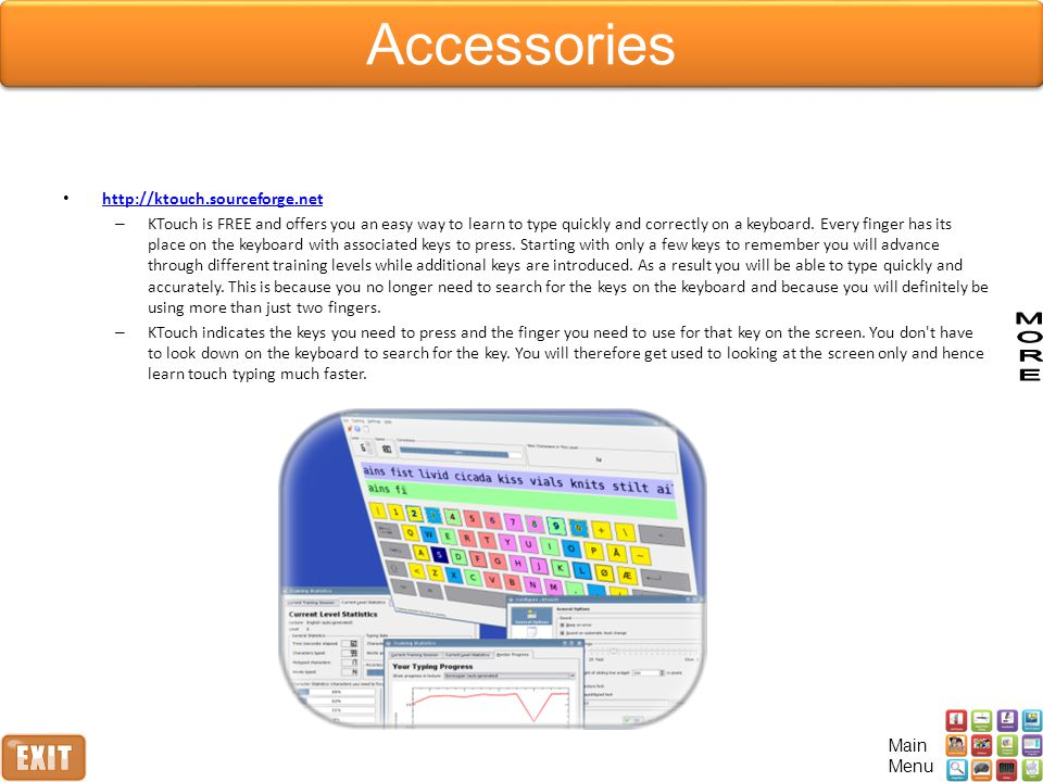 Accessories http://ktouch.sourceforge.net