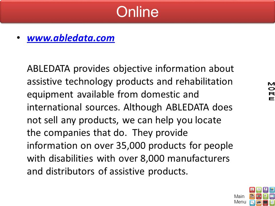 Online www.abledata.com