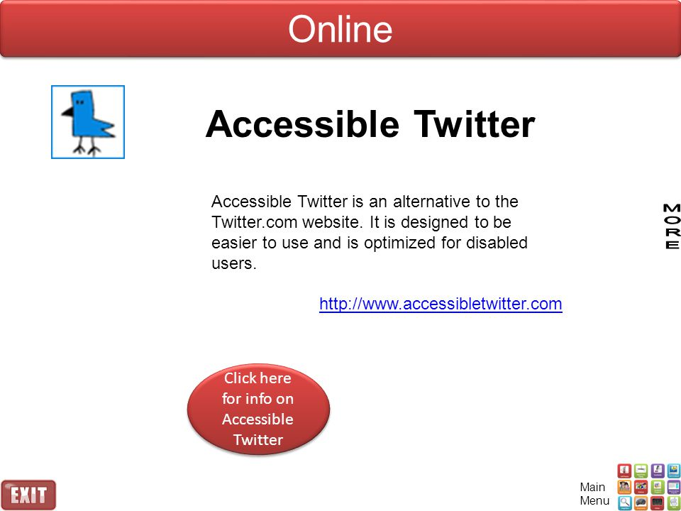 Click here for info on Accessible Twitter