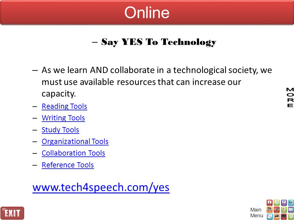 Online www.tech4speech.com/yes Say YES To Technology