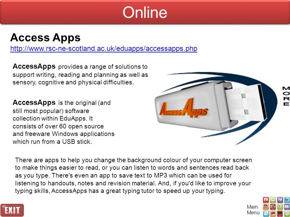 Online Access Apps. http://www.rsc-ne-scotland.ac.uk/eduapps/accessapps.php.