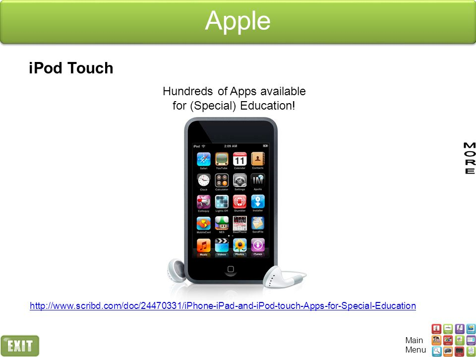 Hundreds of Apps available for (Special) Education!