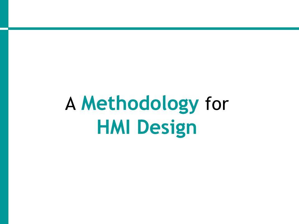 A Methodology for HMI Design