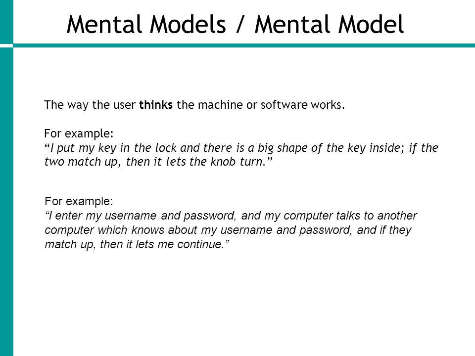 Mental Models / Mental Model