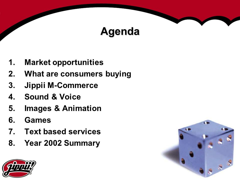 Agenda Market opportunities What are consumers buying