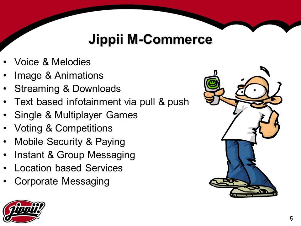 Jippii M-Commerce Voice & Melodies Image & Animations