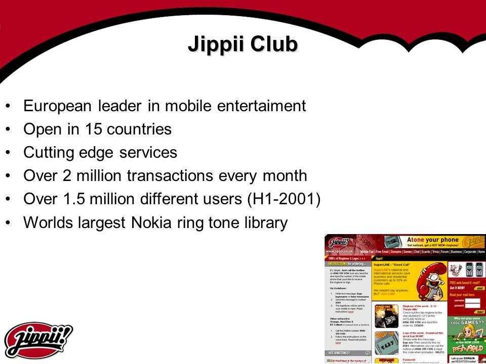 Jippii Club European leader in mobile entertaiment