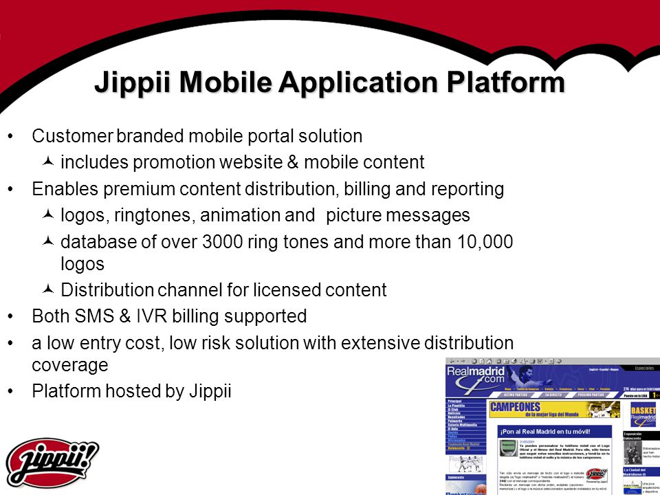 Jippii Mobile Application Platform