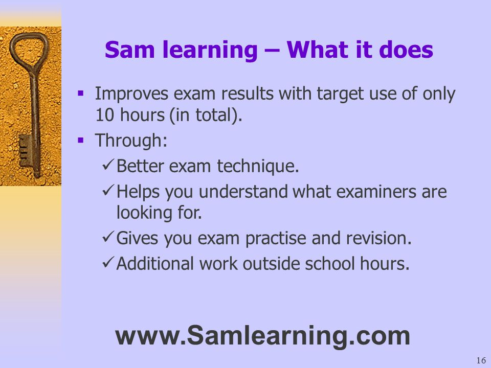 Sam learning – What it does