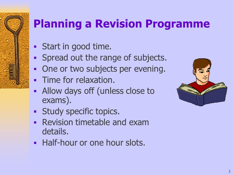 Planning a Revision Programme