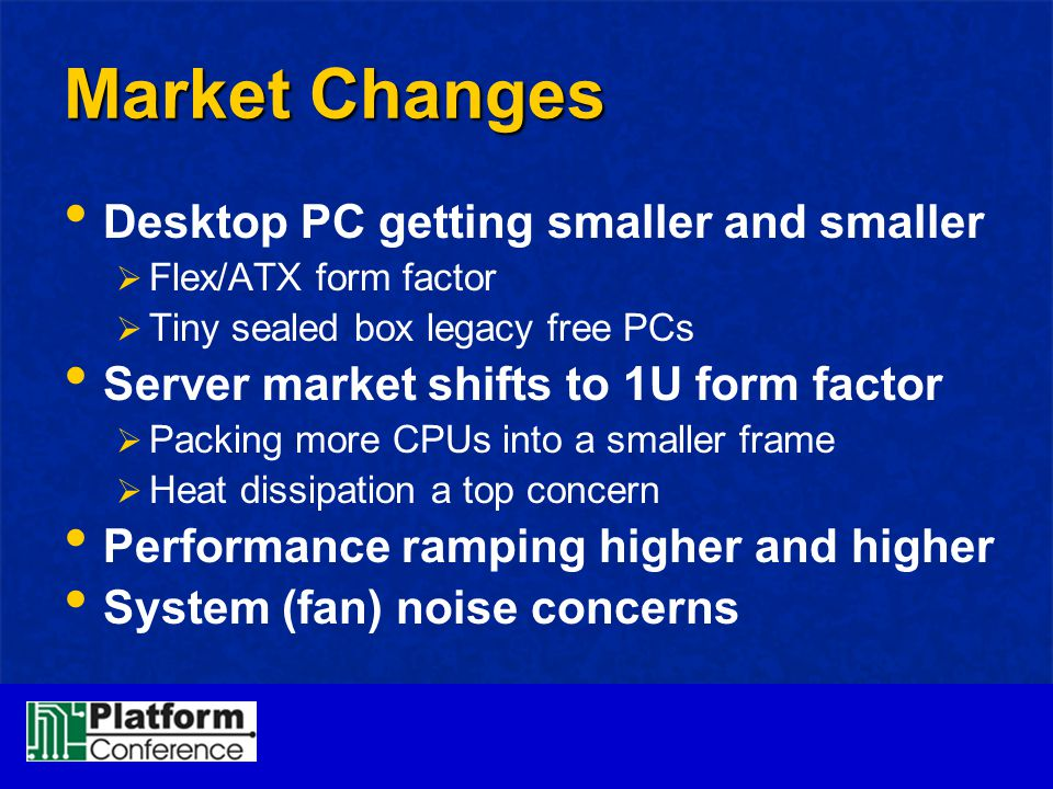 Market Changes Desktop PC getting smaller and smaller