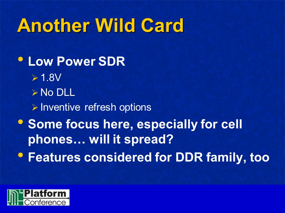 Another Wild Card Low Power SDR