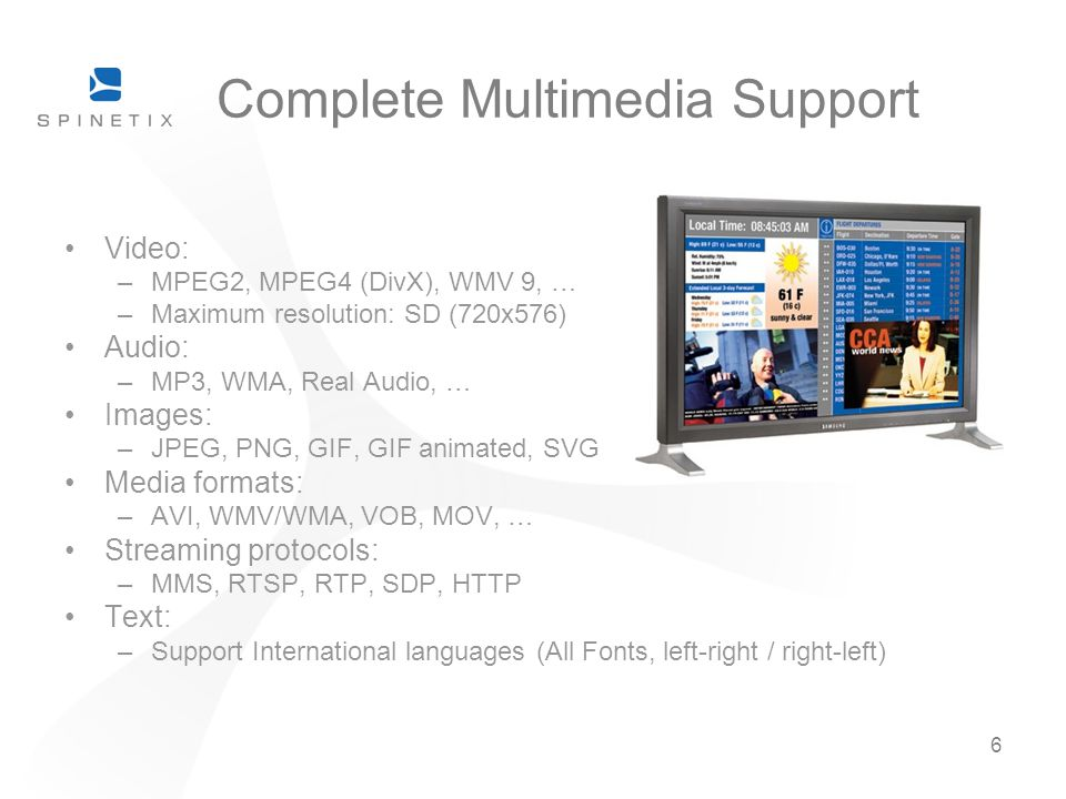 Complete Multimedia Support