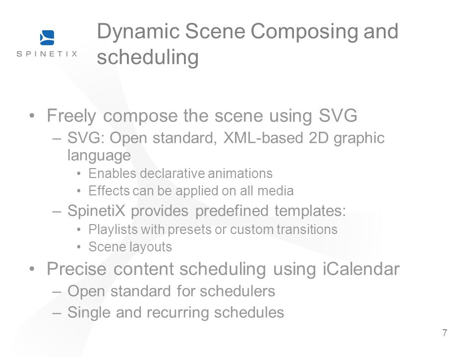 Dynamic Scene Composing and scheduling
