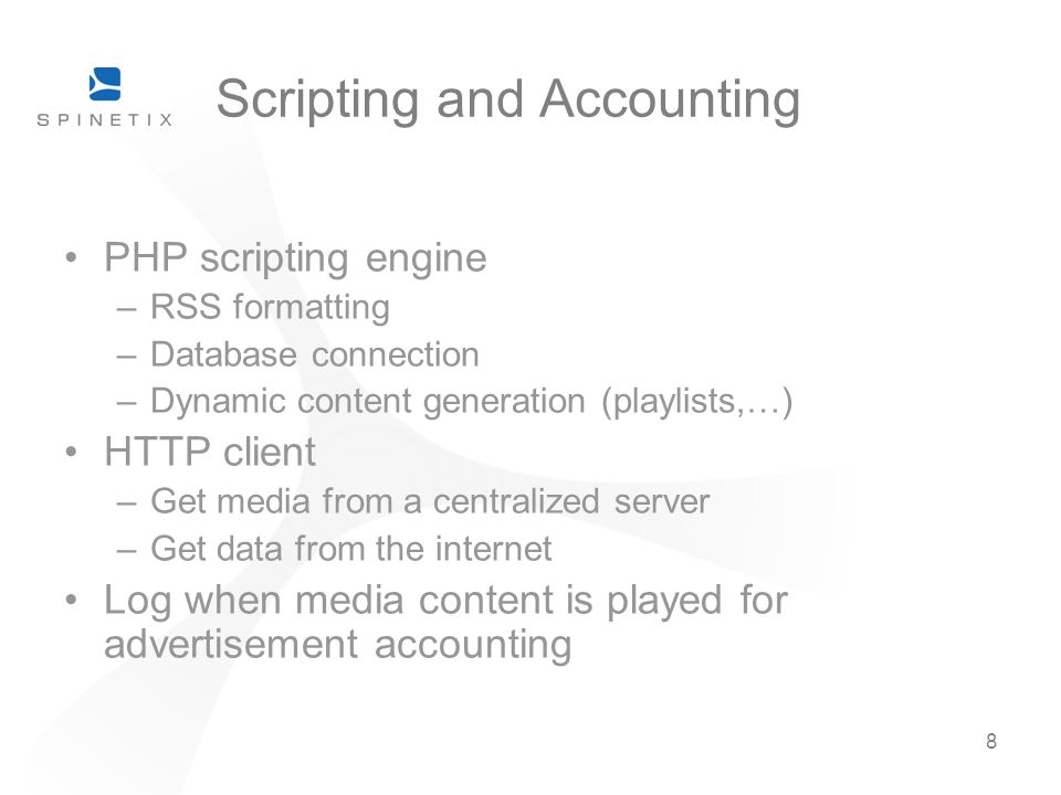 Scripting and Accounting