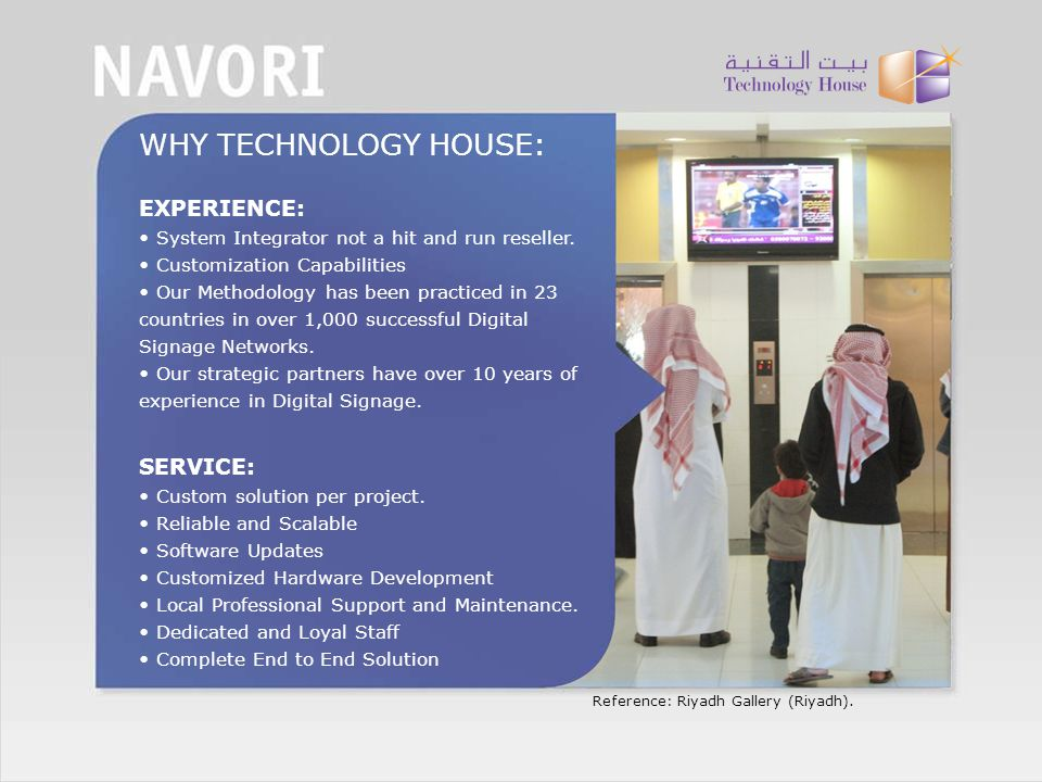 WHY TECHNOLOGY HOUSE: EXPERIENCE: SERVICE: