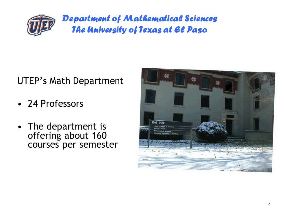 UTEP's Math Department