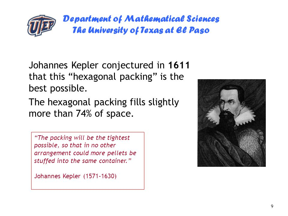 The hexagonal packing fills slightly more than 74% of space.