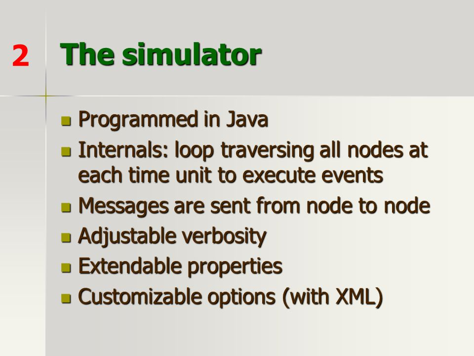The simulator 2 Programmed in Java