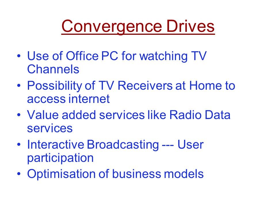 Convergence Drives Use of Office PC for watching TV Channels