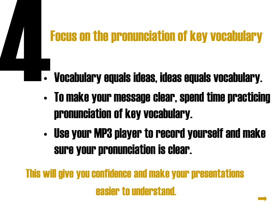 Focus on the pronunciation of key vocabulary